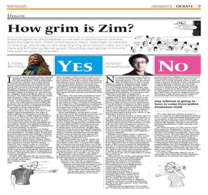 How Grim is Zim (Varsity)